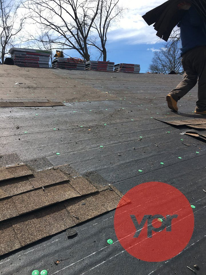 Company's roofing project