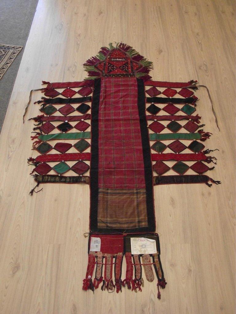 Kilim coperta cammello seta fine 800 - Mis. 225 x 50