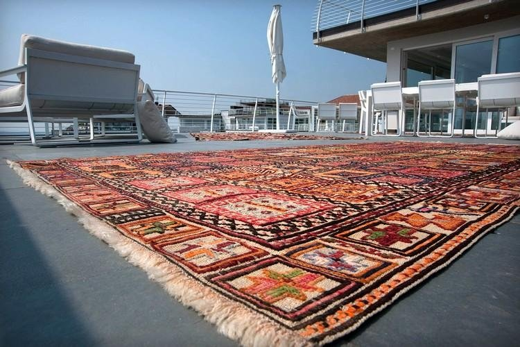 Kilim Shiraki coperta lavor. Sumak 50/60 anni mis. 290 x 143 Persia