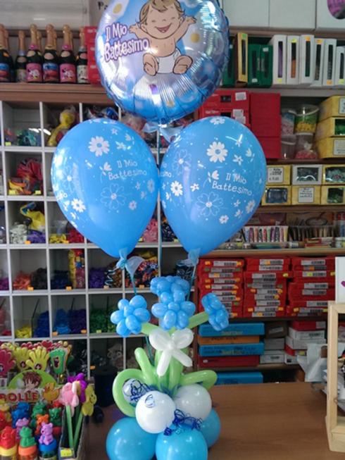 Affidate a Happy Party la creazione di una scultura di palloncini per la festa di battesimo.