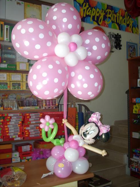 Volete annunciare la nascita della vostra bimba? Commissionate a Happy Party la creazione di una scultura di palloncini.