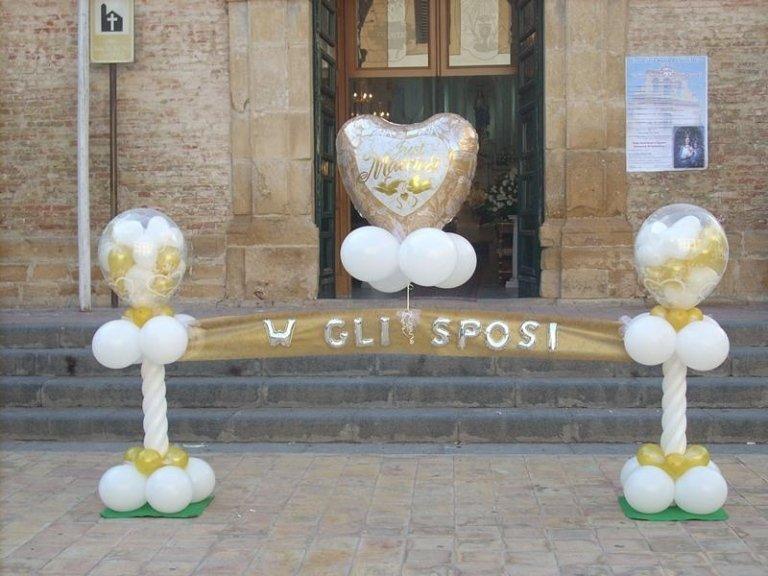 scritta palloncini sposi