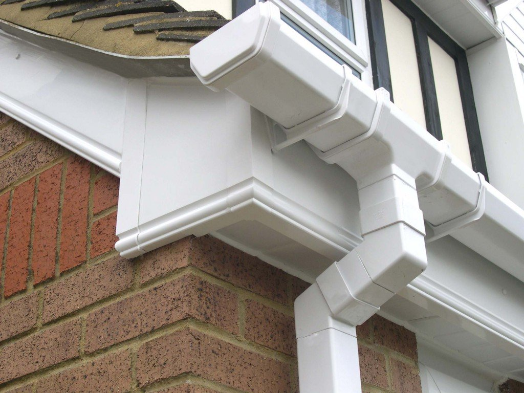 house with gutters and fascias