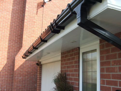 clean upvc gutter