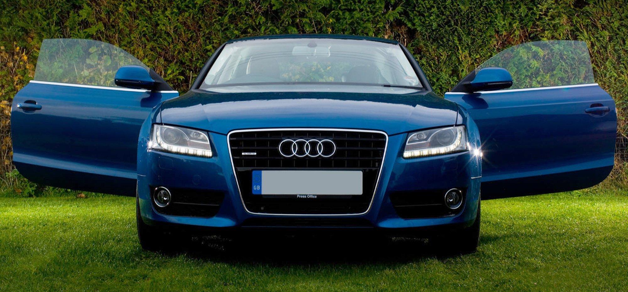 Blue Audi car