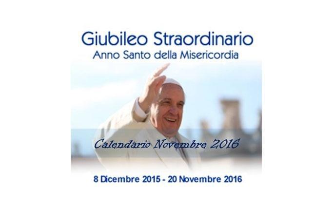 Jubilee Calendar November 2016