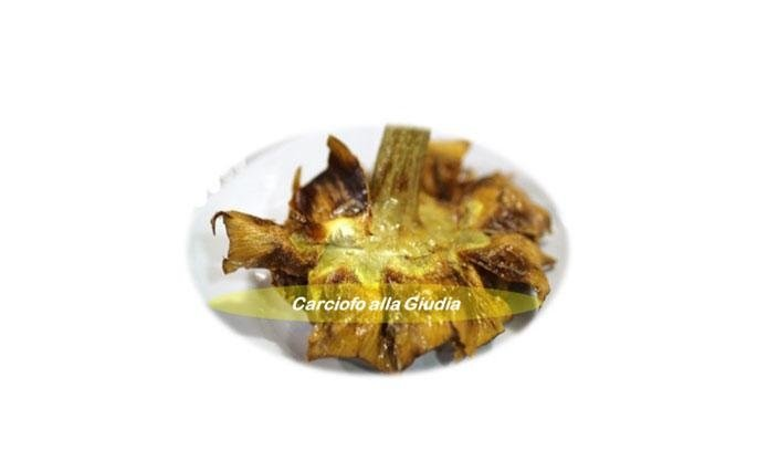 Artichokes Jewish style: Artichokes Jewish style, honour the Jewish tradition of Roman cuisine. Beaten by hand, in order to open the leaves, they are salted, peppered and fried in abundant hot oil. The leaves are made crisp by a spray of cold water on the outside
