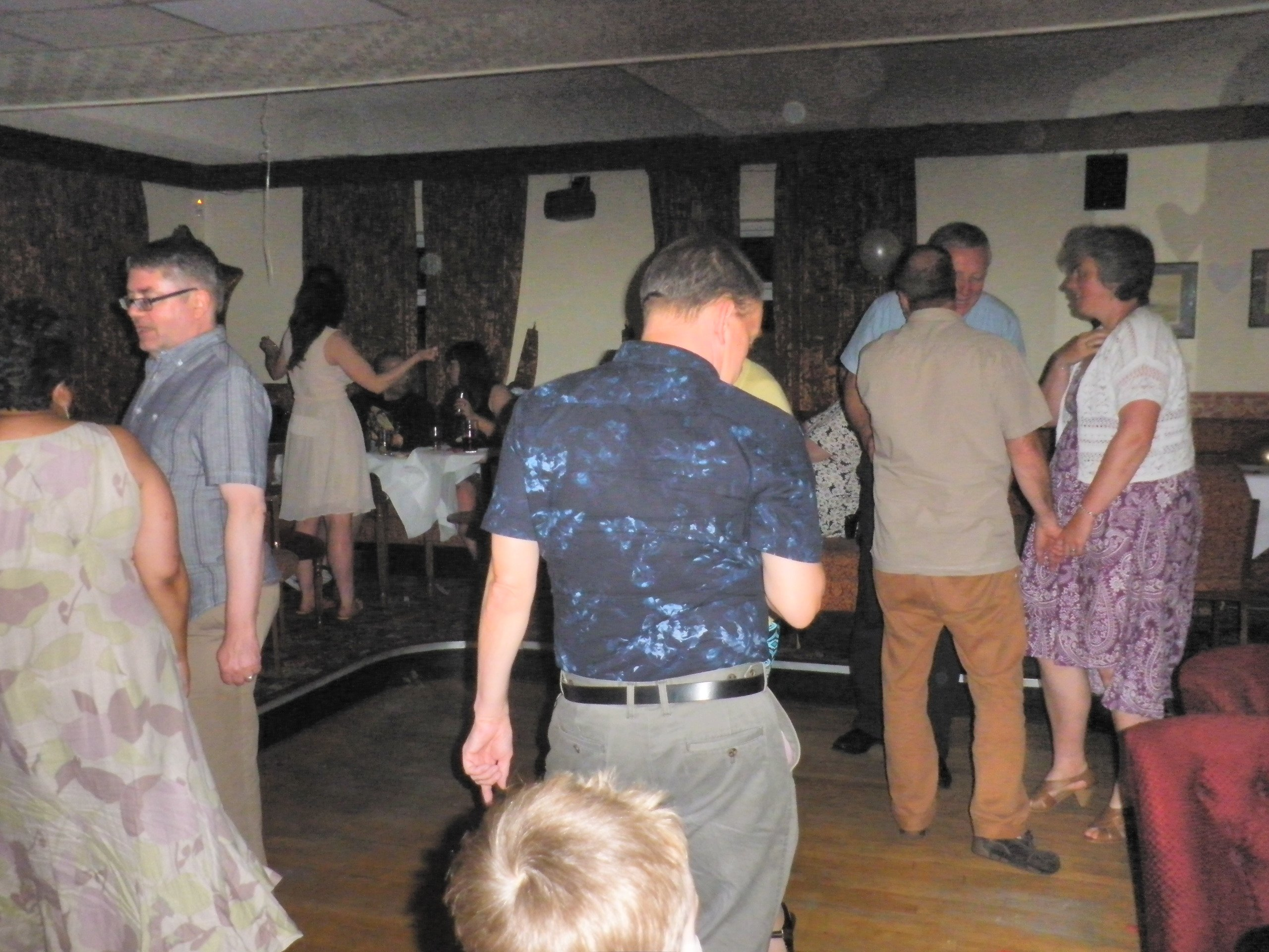 gathering in a dance room
