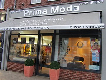 Hair cut - Potters Bar, Hertfordshire - Prima Moda - Shop Front