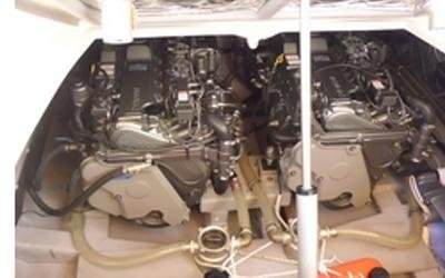 Boat engine maintenance