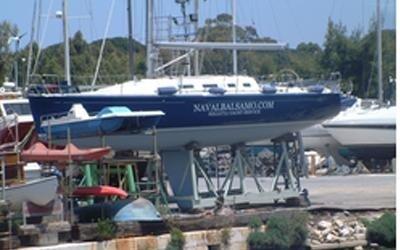 Rigging yacht