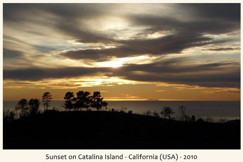tramonto isola Catalina in California nel 2010
