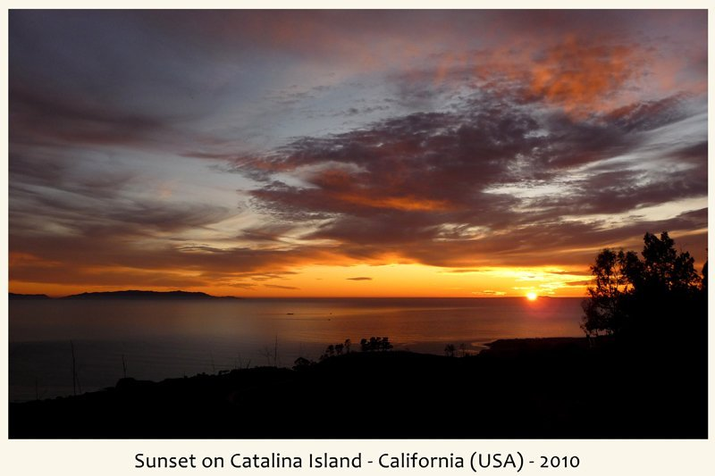 tramonto isola Catalina in California