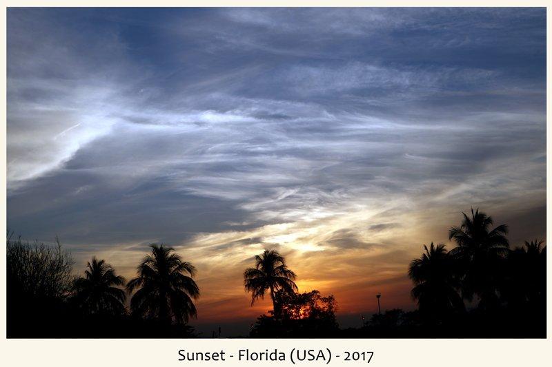 Tramonto in Florida nel 2017