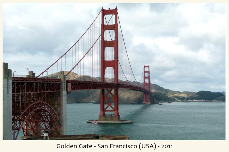 vista frontale Golden Gate in San Francisco nel 2011