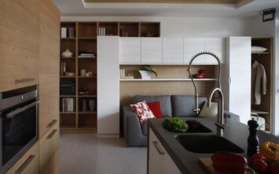realizzazione soggiorno moderno Cadore