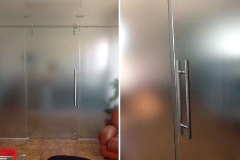 creazione porta vetro semiopaco