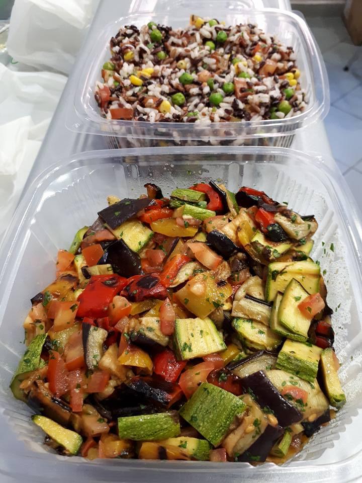caponata di verdure grigliate