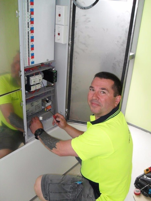 Electrician testing the electrical appliances