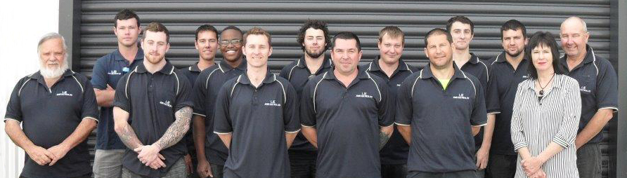 Team of commercial electricians