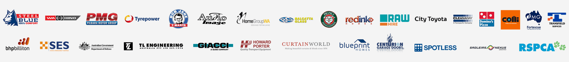 Our diverse range of clients