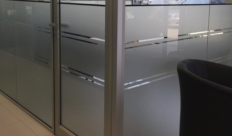 glass etching office