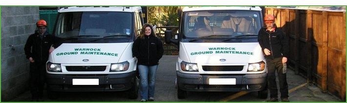 Warnock Ground Maintenance Vans with the team