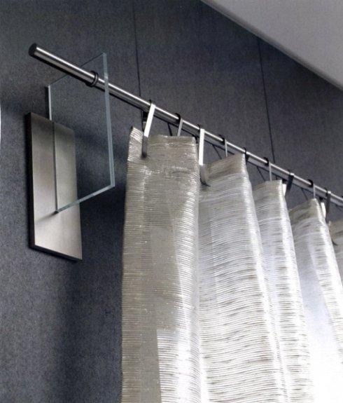 Bastoni per tende acciaio e vetro
