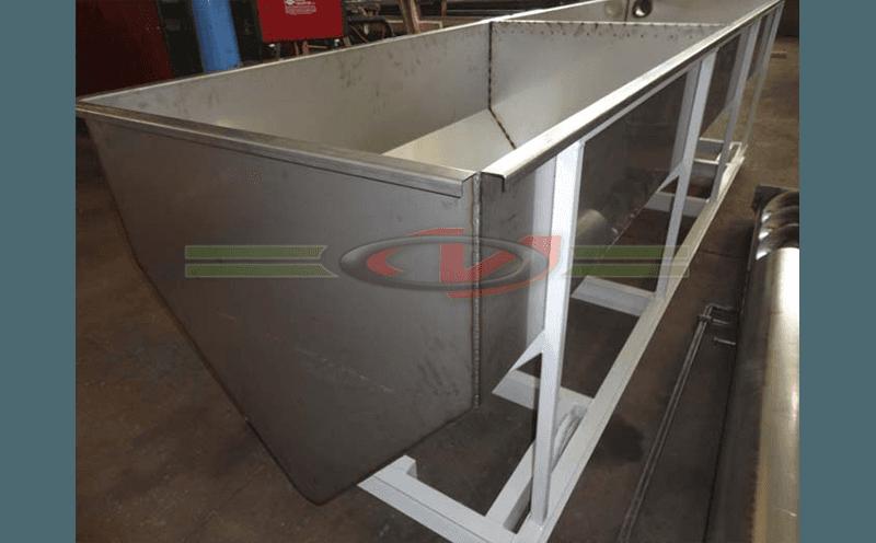 vasca inox per recupero rifiuti