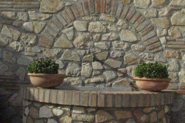 dettaglio rivestimento in pietra