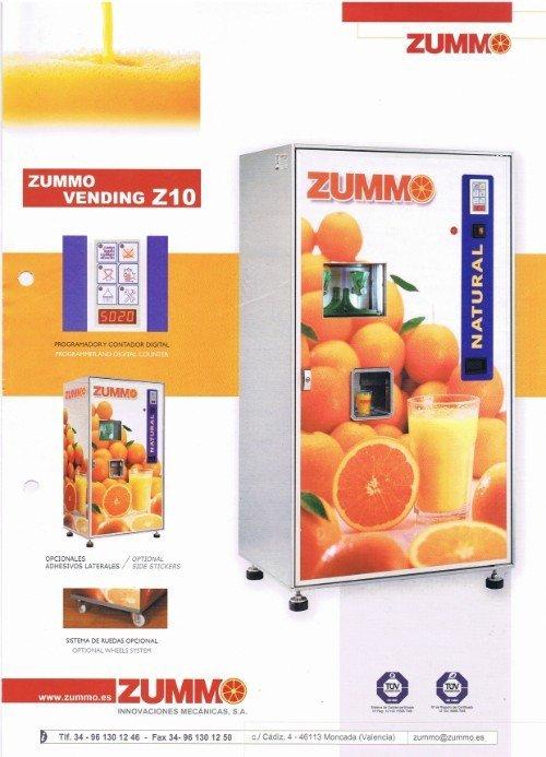 locandina del distributore di spremute Zummo