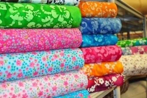 Tissus en coton à fleurs