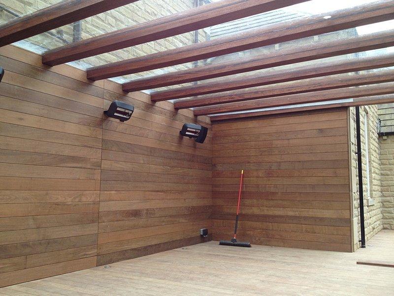 panels of wood
