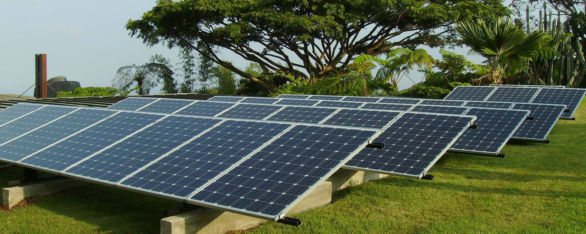 View of the solar panels installed by solar contractors expert in Kailua-Kona, HI