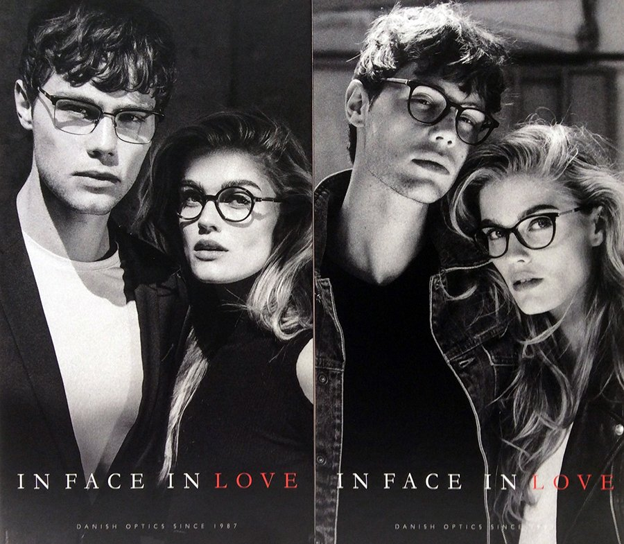 pubblicita occhiali da vista IN FACE OF LOVE
