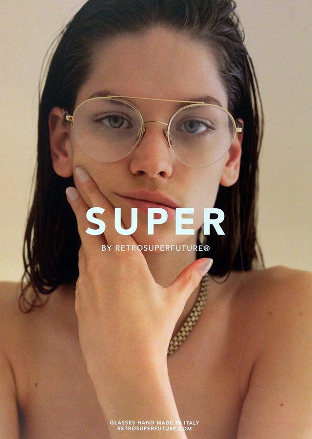 occhiali da vista a marchio SUPER