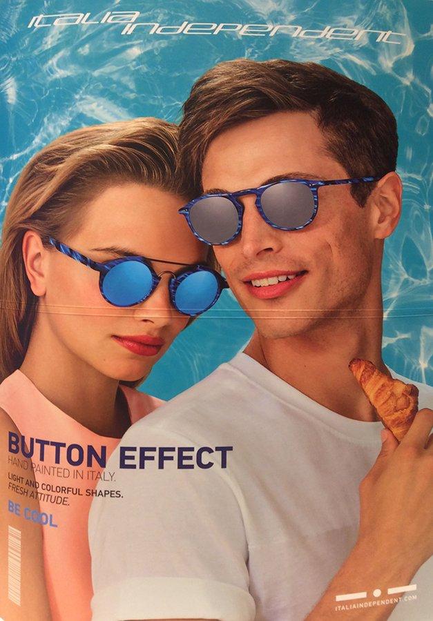 occhiali da sole a specchio donna e uomo a marchio  ITALIA INDIPENDENT