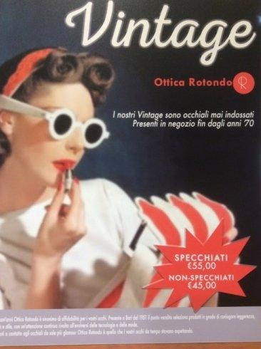 modella vintage per pubblicita al negozio OTTICA ROTONDO