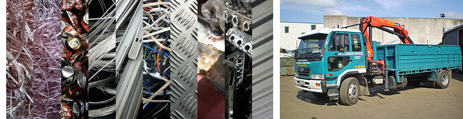 scrap metal products and truck in Auckland
