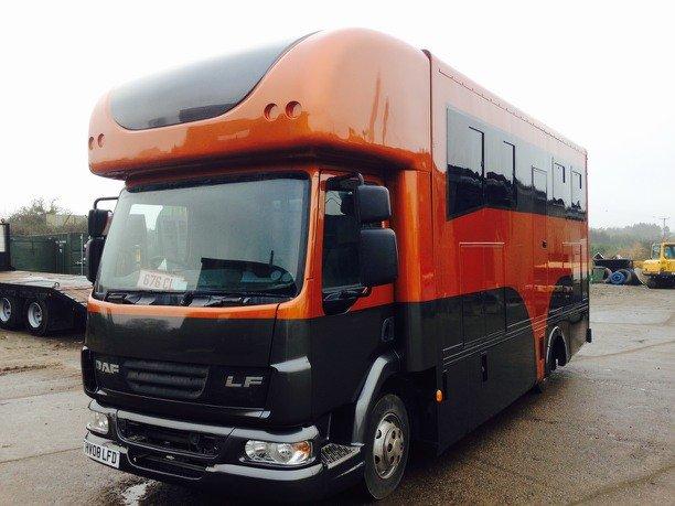 orange and black truck