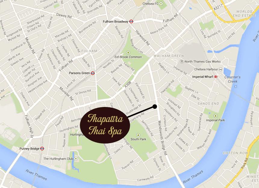 Thapattra Thai Spa Fulham London Map