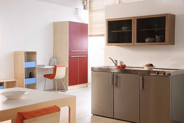 k chen aus edelstahl bergamo italien f m progetto cucina. Black Bedroom Furniture Sets. Home Design Ideas