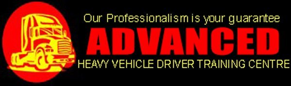 advanced heavy vehicle driver training centre business logo