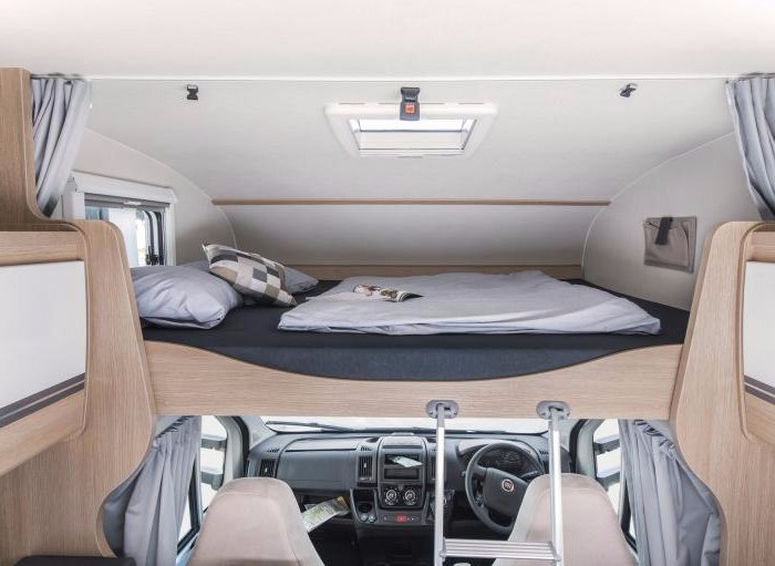 6 Berth Motorhome Rental Ireland - King Size Bed