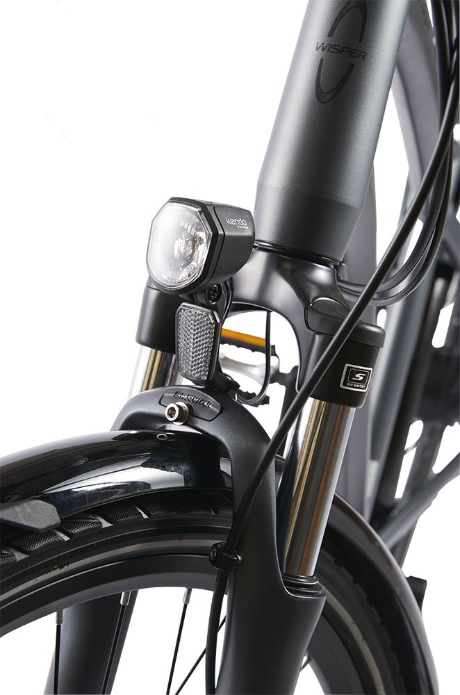 Electric Bicycle Safety Lighting and Front Suspension