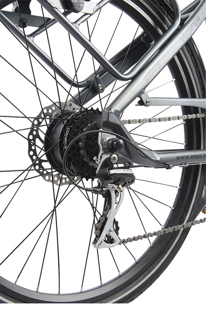 Electric Bicycle Full Gearing for Pedal Only and Disc Brakes