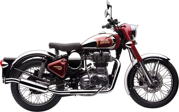Royal Enfield Classic Chrome Motorcycle Rental in Ireland