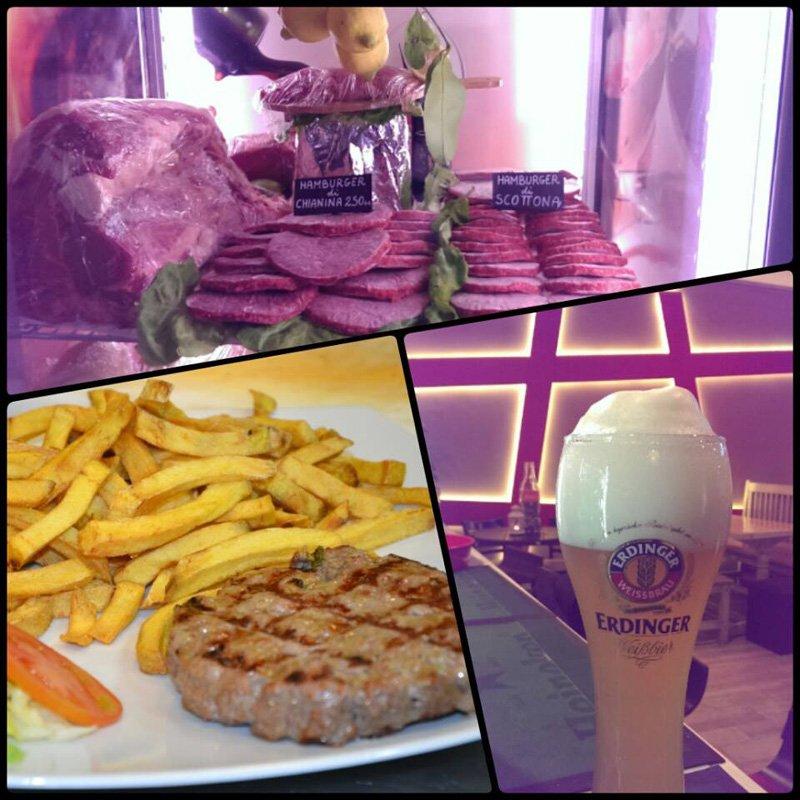 Carne birre hamburger di chianina a Napoli