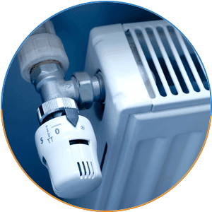 central heating system knob