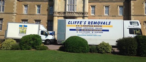CLIFFE'S REMOVALS van